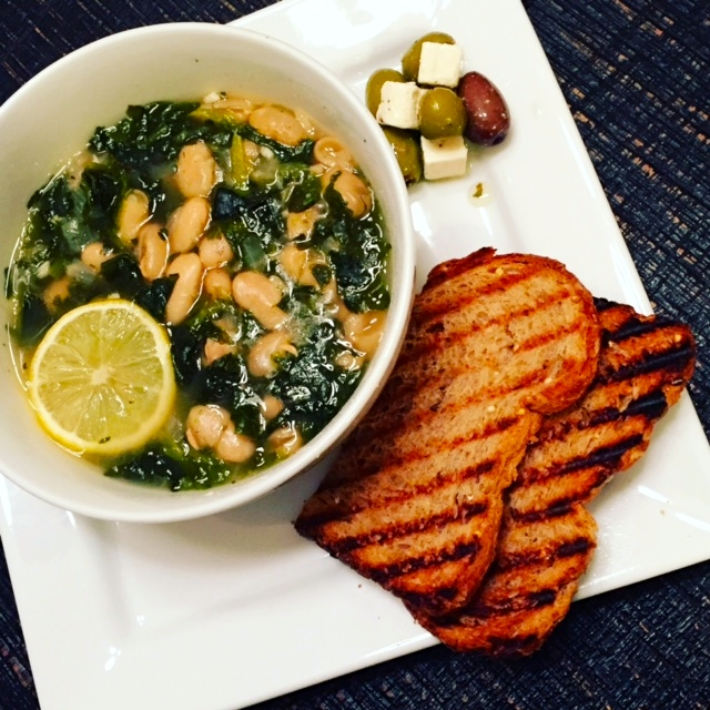 spinach & cannellini beans